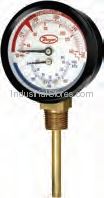 Dwyer TRI-60-25E Temperature/Pressure Gauge 1/4 Npt 0-60Psi