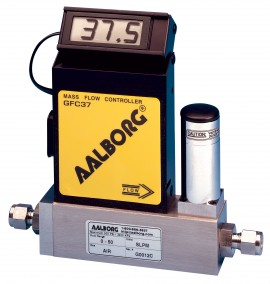 Aalborg GFC17A-VADL2-E0-06-N2 Mass Flow Controller 0 to 500 ml/min N2 1/4""