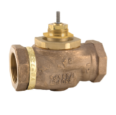 "Barber Colman (Schneider Electric) VB-7213-0-4-4 Venta 2-Way Globe Valve Body Brass Trim 1/2"" NPT Normally Open 4.4Cv"