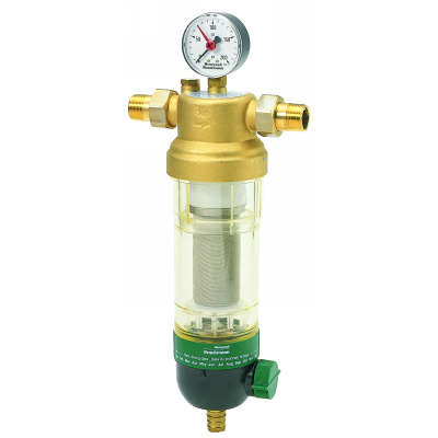 """Honeywell F76S1049 Water Filter 1-1/2"""" 100 Micron with Gauge"""