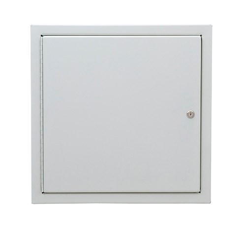 """Potter Roemer 1802-F Fire Extinguisher Cabinet 9"""" x 9"""" x 6"""" White"""