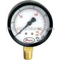 Dwyer UGA-D0122N Pressure Gauge 0-30 Hg Steel Housing
