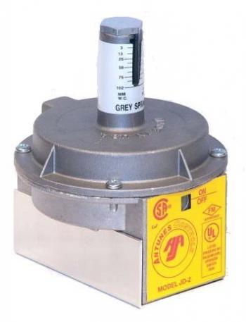 "Antunes JD-2 Industrial Air Pressure Switch Grey Spring 0.1-4"" W.C. 1/8"" NPT"