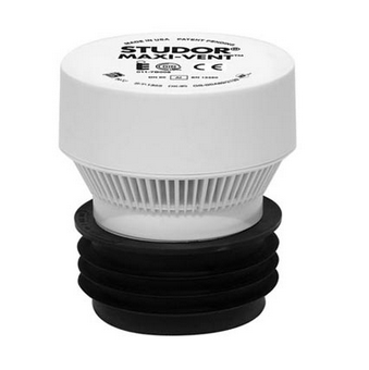"""Studor 20342 Maxi-Vent Air Admittance Valve with Connector 3/4"""" ABS Body"""