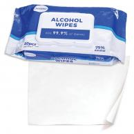 Caresour ESIEW075 75% Alcohol Disenfecting Wipes 50 Count