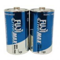Enviromax  FUJ3100BP2 Extra Heavy Duty D Batteries ( 2 Pack )