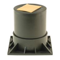 """DiversiTech HPR-3-2PG Heat Pump Riser 2Pcs blk 3"""""""