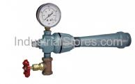 "Pyronics 2202-24-HC, 1"" Inlet NPT With Needle Valve Pressure Gauge"