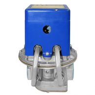 "Maxitrol MR212J-2-3232 4"" Negative Pressure Selectra Modulating Valve with 2-Speed Dual Fuel and Flanged"