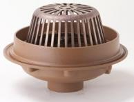 "JRS 1080Y04-CID-E04-RDP Roof Drain Water Dam No-Hub Outlet Cast Iron Dome 4"" Extension"