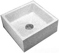 "Acorn TRH-242410 24"" x 24"" x 10"" Height Reduce Height Terrazzo Mop Sink"