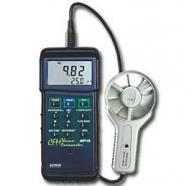 Extech 407113 Heavy Duty CFM Metal Vane Anemometer, 80°C/6890fpm