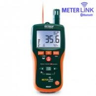 Extech MO297 Pinless Moisture Psychrometer with IR Thermometer and Meterlink