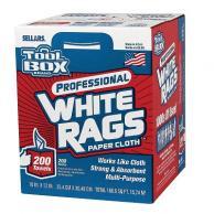 Sellars 58202 TOOLBOX Z400 White Rags 200CT (6/Case)