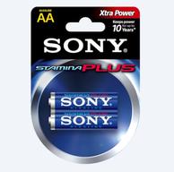 Sony AM3-B2D Stamina Plus AA Alkaline Battery (2/pack)