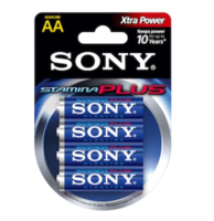 Sony AM3-B4D Stamina Plus AA Alkaline Battery (4/pack)