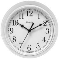 "Westclox 46994A Decorative Wall Clock (White) 9"""