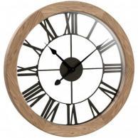 "Westclox 38004 Round Wood Wall Clock 15"""