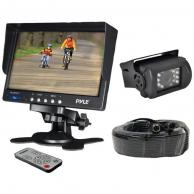PYLE PLCMTR71 Weatherproof Backup Camera System with 7 LCD Color Monitor & IR Night Vision Camera