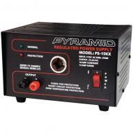 PYRAMID PS15KX 10-Amp 13.8-Volt Power Supply with Car-Charger Adapter