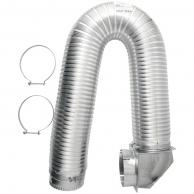 """Builders Best 111718 4"""" X 8Ft Ul Transition-Duct Single-Elbow Kit"""