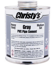 Christy RH-BGLV-HP Gray Heavy Pvc Cement 8Oz