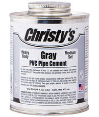 Christy RH-BGLV-PT Gray Heavy Pvc Cement Pint